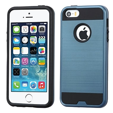 Insten Hard Dual Layer Rubber Coated Silicone Case For Apple iPhone 5/5S/SE, Blue/Black (2212072)
