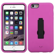"Insten Silicone Hybrid Shockproof Rubber Hard Case with Stand For iPhone 6 Plus / 6S Plus 5.5"" - Pink/Black"