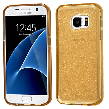 Insten Glittering Gel Glitter Case For Samsung Galaxy S7 - Gold