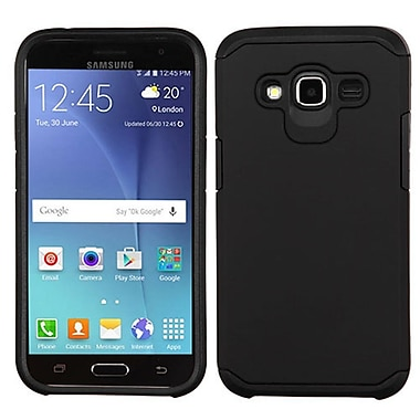 Insten Hard Dual Layer Silicone Cover Case For Samsung Galaxy J2 (2016) - Black