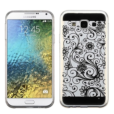 Insten ? Étui de protection en gel avec motif de trèfle à quatre feuilles pour Samsung Galaxy E5, noir (2229181)