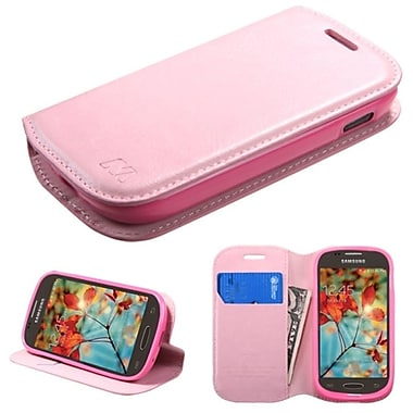 Insten Flip Leather Fabric Case With Stand/Card Slot For Samsung Galaxy Light, Pink (2011326)