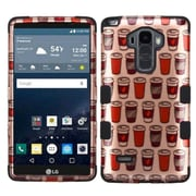 Insten Give Me Coffee Hard Dual Layer Hybrid Case For LG G Stylo / G Vista 2 - Rose Gold/Black