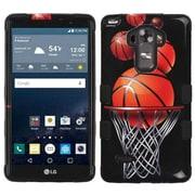 Insten Tuff Basketball Hoop Hybrid Soft Hard Case Cover (3-Piece Style) for LG G Stylo/ G Vista 2 - Black/Orange