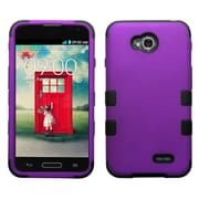 Insten Grape/Black TUFF Hybrid Phone Hard Protective Case Cover For LG Optimus L70 Exceed 2