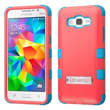 Insten Hard Hybrid Silicone Case w/stand For Samsung Galaxy Grand Prime - Red/Teal