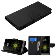 Insten Leather Wallet Stand Case with Card slot holder For LG G5 - Black