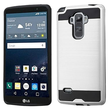 Insten Hard Hybrid Rubber Silicone Cover Case For LG G Stylo - Silver/Black