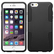 "Insten Mesh Hard Dual Layer Plastic Silicone Cover Case For Apple iPhone 6 Plus 5.5"" - Black"