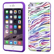 "Insten Zebra Hard Hybrid Rubber Coated Silicone Cover Case For Apple iPhone 6 Plus 5.5"" - Colorful/Purple"