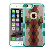 Insten Argyle Hard Case For Apple iPhone 6 Plus/6s Plus - Green/Brown