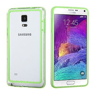 Insten Rubber Bumper For Samsung Galaxy Note 4, Green/Clear (1983253)