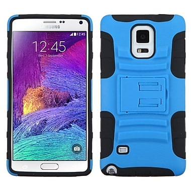 Insten Advanced Armor Hard Dual Layer Plastic Silicone Case w/stand For Samsung Galaxy Note 4 - Black/Blue
