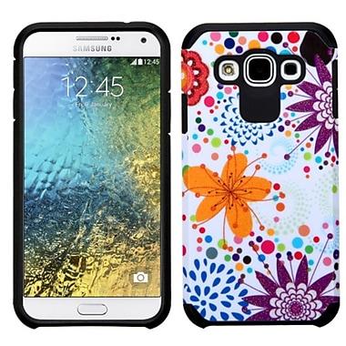 Insten Flower Buds Hard Dual Layer Case For Samsung Galaxy E5 - Purple/White
