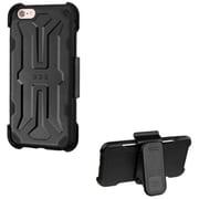 Insten Hard Rubber Case w/Holster For Apple iPhone 6s Plus / 6 Plus - Black