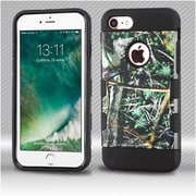 Insten Cedar Tree 2-Layer Hybrid Hard TPU Case For iPhone 7 - Green/Black