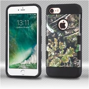 Insten Camouflage 2-Layer Hybrid Hard TPU Case For Apple iPhone 7 - Green/Black