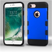 Insten 2-Layer Hybrid Hard TPU Cover Case For Apple iPhone 7 - Blue/Black