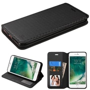 Insten Black Flip Leather Wallet Case with card slot & photo display For iPhone 7