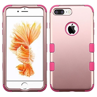 Insten Tuff 3-Piece Style Shockproof Soft TPU Hard Hybrid Cover Case For iPhone 7 Plus - Rose Gold/Pink