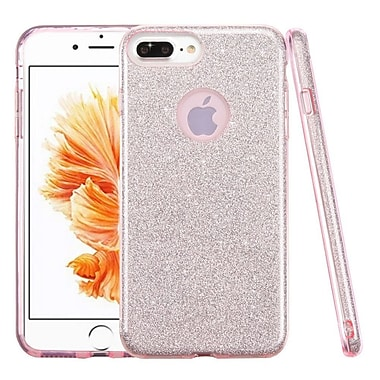 Insten Glitter Hybrid Hard Plastic / Soft Flexible Rubber Case For iPhone 7 Plus/ 8 Plus, Pink (2276957)