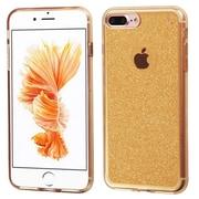 Insten Transparent Gold Bling Glitter Flexible TPU Rubber Skin Case For Apple iPhone 7 Plus