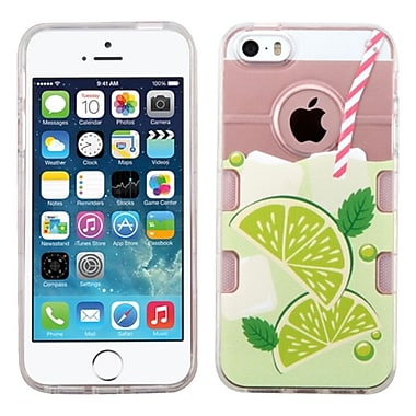 Insten Mint Limeade Rubber Cover Case For Apple iPhone SE / 5/ 5S - Clear/Green