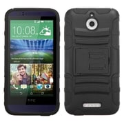 Insten Hard Hybrid Rubberized Silicone Case w/stand For HTC Desire 510 - Black