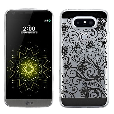 Insten Four-Leaf Clover Gel Rubber Skin Case For LG G5, Black (2237441)