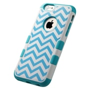 Insten Tuff Merge Wave Hard Rubber Case For Apple iPhone 6 - Blue/White
