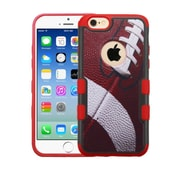 Insten Football Hard Rubberized Cover Case For Apple iPhone 6/6s - Red/White