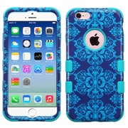 Insten Tuff Damask Hard Hybrid Rubberized Silicone Case For Apple iPhone 6/6s - Blue