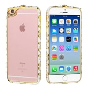 Insten Hard Rubber Bumper Case with Diamond For Apple iPhone 6 / 6s - White