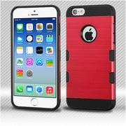 Insten Hard TPU Cover Case For Apple iPhone 6 / 6s - Red/Black