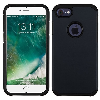 Insten Dual Layer Hybrid Soft TPU Hard Shell Case For Apple iPhone 7/ 8, Black (2271070)