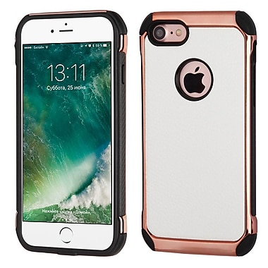 Insten White Lychee Grain(Rose Gold Plating)/Black Astronoot Case Cover for Apple iPhone 7