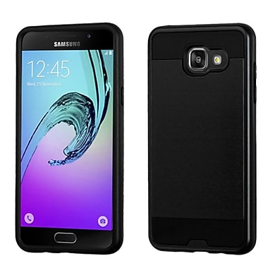 Insten Hard Hybrid Dual Layer Rubber Coated Silicone Case For Samsung Galaxy A5, Black (2233119)