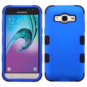 Insten Tuff Hard Dual Layer Rubber Coated Silicone Cover Case For Samsung Galaxy Amp Prime / J3 (2016) - Blue/Black