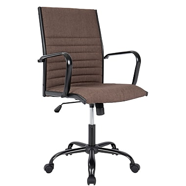 Lumisource Master Contemporary Fabric Office Chair, Brown (OFC-AC-MSTF BN)