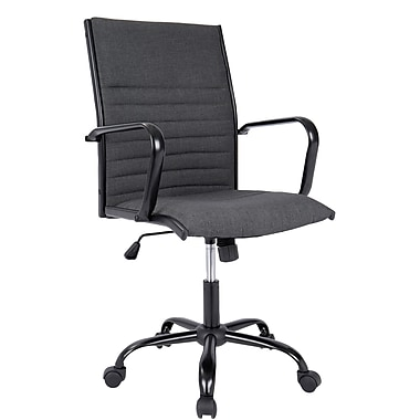 Lumisource Master Contemporary Fabric Office Chair, Charcoal (OFC-AC-MSTF CHA)