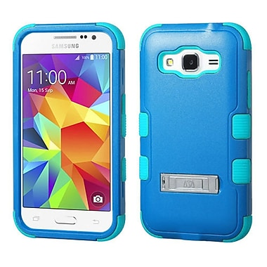 Insten Hard Dual Layer Silicone Cover Case w/stand For Samsung Galaxy Core Prime - Blue/Teal