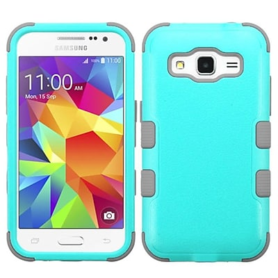 Insten Tuff Hard Hybrid Silicone Case For Samsung Galaxy Core Prime - Teal/Gray