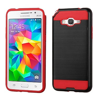 Insten Hard Hybrid Silicone Case For Samsung Galaxy Grand Prime, Black/Red (2234511)