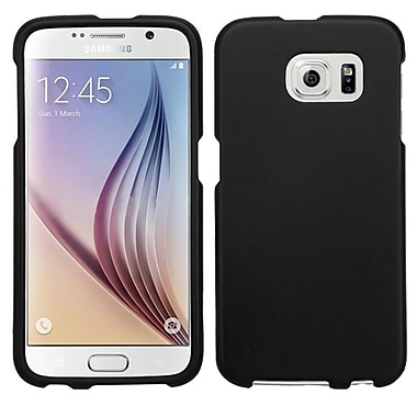 Insten Hard Rubberized Cover Case For Samsung Galaxy S6, Black (2091630)
