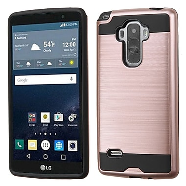 Insten Hard Dual Layer Rubber Coated Silicone Cover Case For LG G Stylo, Rose Gold/Black (2177719)