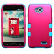 Insten Titanium Hot Pink/Teal TUFF Hybrid Hard Shockproof Protective Case Cover For LG Optimus L70 Exceed 2