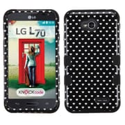 Insten Black Heart Dots TUFF Hybrid Rugged Hard Shockproof Case For LG Optimus Exceed 2 VS450PP Verizon