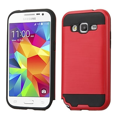 Insten Hard Dual Layer Rubber Silicone Case For Samsung Galaxy Core Prime, Red/Black (2173090)