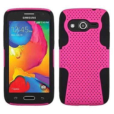 Insten Astronoot Hard Dual Layer Rubber Coated Silicone Case For Samsung Galaxy Avant - Hot Pink/Black