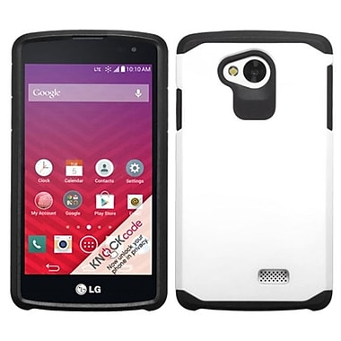 Insten ? Étui à double coque en silicone/plastique rigide pour LG Optimus F60, blanc/noir (2068630)